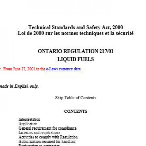 Proposed Changes to the Liquid Fuels Handling Code